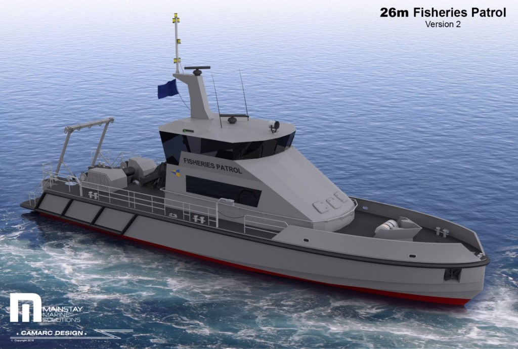 Illustration of 26m Monohull Patrol Vessel