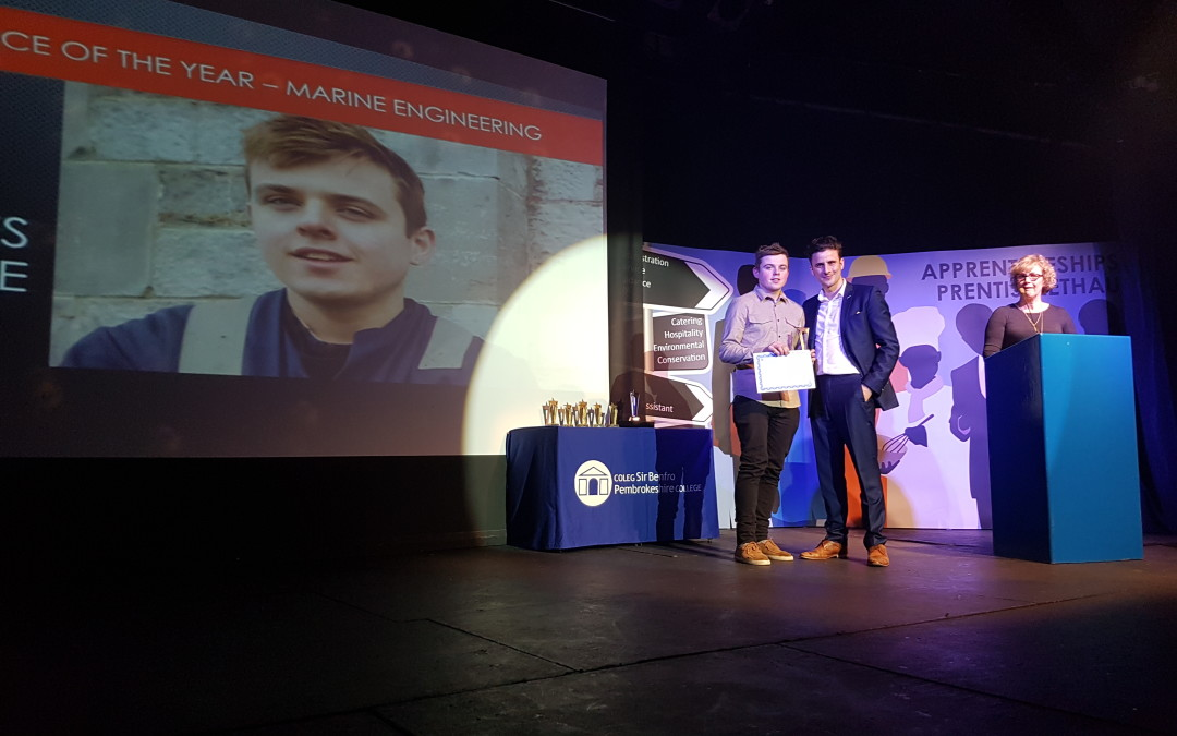 Pembrokeshire College Marine Engineering Apprentice of the Year – Charles Preece