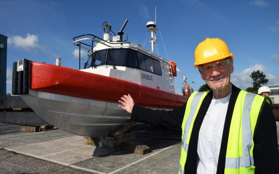 Sir Michael Palin steps onboard Erebus